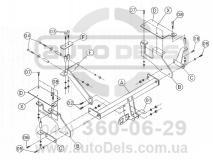 Схема фаркопа Daihatsu Terios