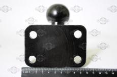 Литой крюк прицепного устройства из стали на 4-х болтах