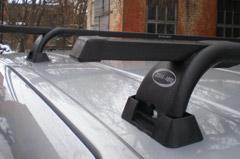 багажники на гладкую крышу, ни штатные места, водостоки и рейлинги