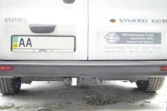 установка фаркопа на Opel Vivaro