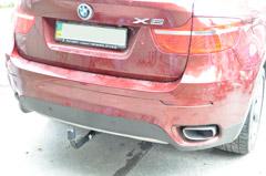 установка фаркопа прицепного на BMW X6 X5 фаркоп на бмв Х6 х5