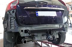 Установка оригинального фаркопа на Volvo XC60